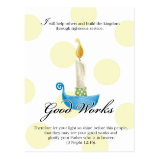 YW Value Card- Good Works Postcard