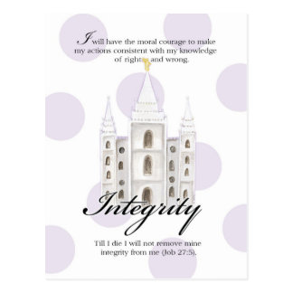 YW Value Card- Integrity Postcard