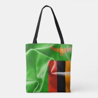Zambia Flag All-Over-Print Tote Bag