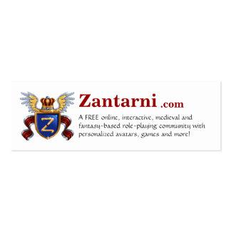 Zantarni.com Pack Of Skinny Business Cards