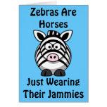 Zebra Art Greeting Card