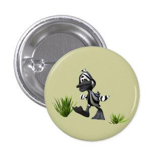 Zebra Duck 3 Cm Round Badge