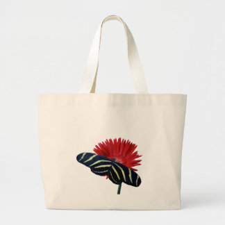 Zebra Longtail on a Daisy Jumbo Tote Bag
