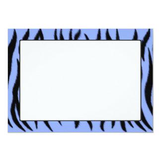 Zebra pattern on light blue background 13 cm x 18 cm invitation card