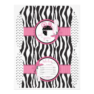 Zebra Print & Baby Carriage Favor Box 21.5 Cm X 28 Cm Flyer
