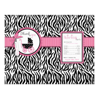 Zebra Print & Baby Carriage Popcorn Wrapper 21.5 Cm X 28 Cm Flyer