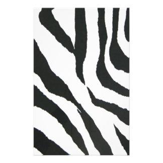 zebra print design customised stationery