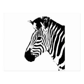 Zebra Stencil Postcard