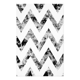 Zig saw Print - black prints blank Black White Personalized Stationery