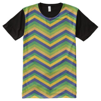 Zig Zag Brazil Design All-Over Print T-Shirt
