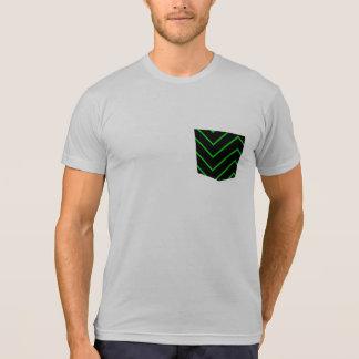 zig zag lines pocket tee t-shirt design