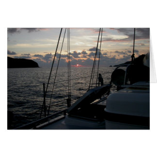 Zihuatanejo Sunset from Moira in anchorage Greeting Card