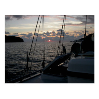 Zihuatanejo Sunset from Moira in anchorage Postcard