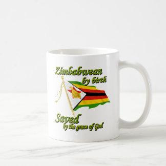 Zimbabwean by birth saved by the grace of God Basic White Mug