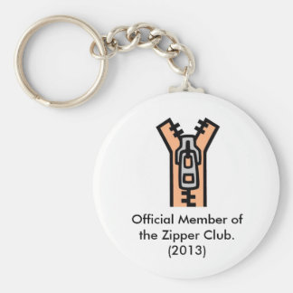 Zipper, Official Member of the Zipper Club.(2010) Basic Round Button Key Ring