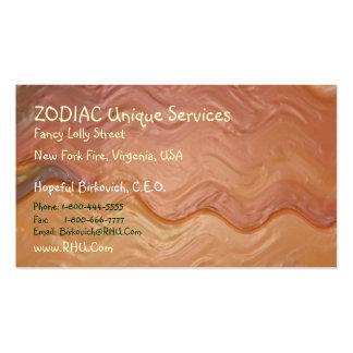 ZODIAC + all Zodiac Symbols on back Pack Of Standard Business Cards