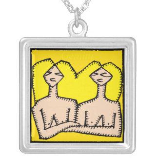 Zodiac Signs Gemini Birthday Necklace
