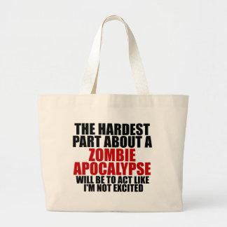Zombie Apocalypse Jumbo Tote Bag