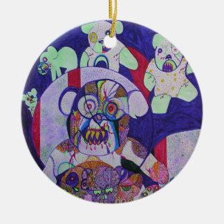 Zombie Bears Round Ceramic Decoration