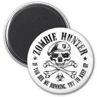 zombie hunter undead living dead 6 cm round magnet