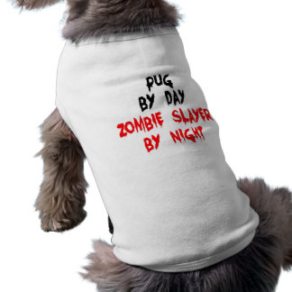 Zombie Slayer Pug Dog Sleeveless Dog Shirt