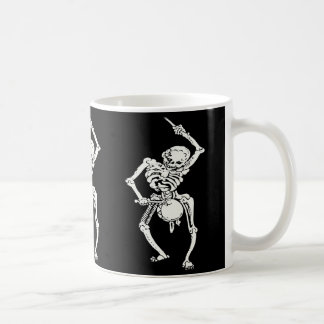 Zombie Undead Skeleton Marching and Beating A Drum Basic White Mug