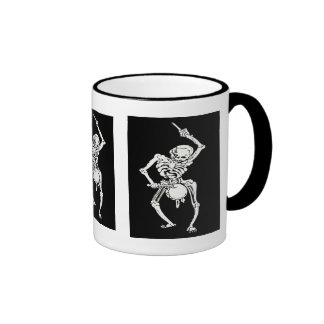 Zombie Undead Skeleton Marching and Beating A Drum Ringer Mug
