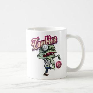 Zombies eat Brains Basic White Mug