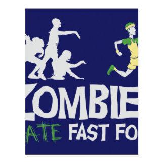 Zombies HATE Fast Food Postcard