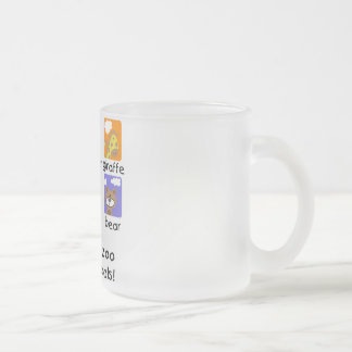 Zoo Animals Tshirts and Gifts Frosted Glass Mug