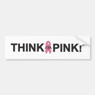 ZTA Think Pink! Bumper Sticker